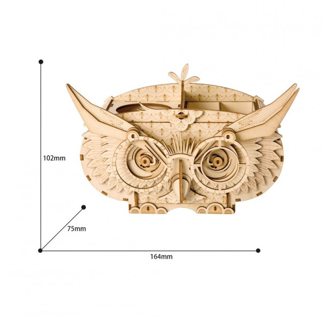 Rolife Owl Box TG405 Modern 3D Wooden Puzzle