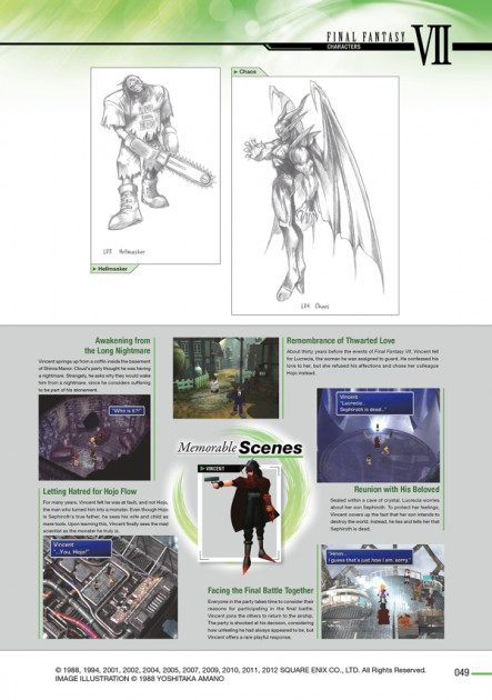 final fantasy artbook