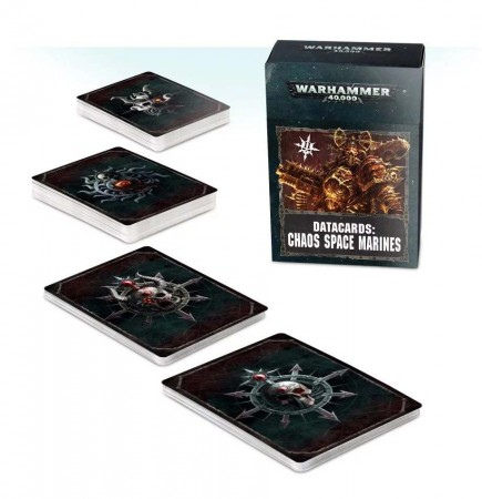 W40k: Chaos Space Marines Datacards