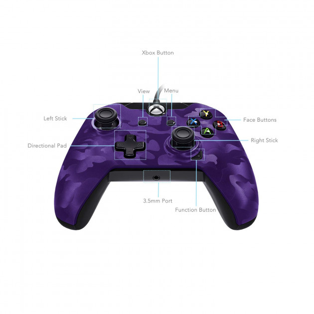 PDP Stealth Series Wired Controller for Xbox One