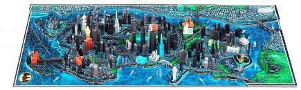 3D Puzzle Batman - Gotham City Citiscape 4D