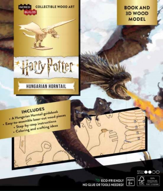 IncrediBuilds: Harry Potter: Hungarian Horntail Book and 3D Wood Model