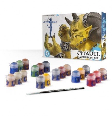 Citadel Layer Paint Set (20 farieb a štetec)