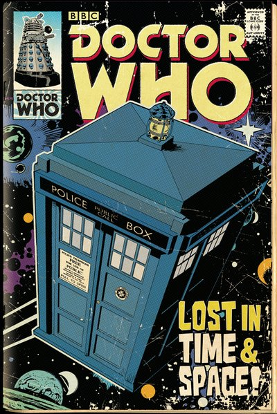 Plakát Dr. Who - Tardis Comic