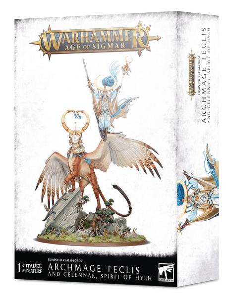 W-AOS: Lumineth Realm Lords Archmage Teclis and Celennar, Spirit of Hysh (1 figurka)