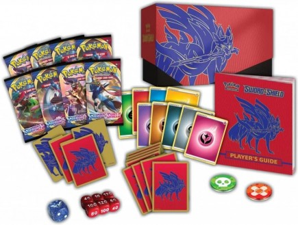 Karetní hra Pokémon TCG: Sword and Shield - Elite Trainer Box (Zacian - červený box)