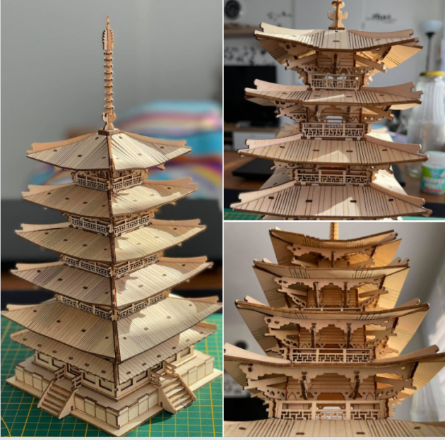 Rolife DIY Five-storied Pagoda 3D Wooden Puzzle TGN02