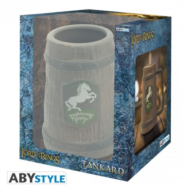 LORD OF THE RINGS - 3D Tankard - Prancing Pony x2