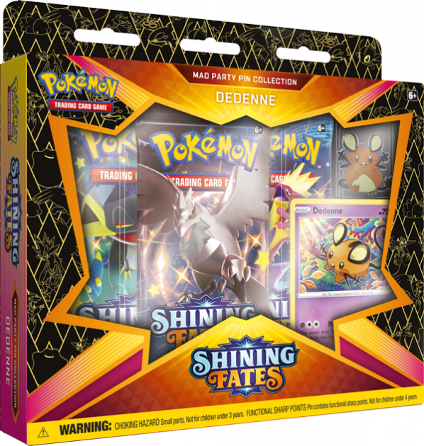 Karetní hra Pokémon TCG: Shining Fates - Mad Party Pin Collection (Dedenne)