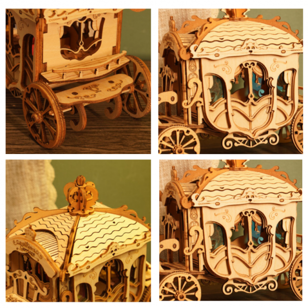 Rolife Classic Carriage TG506 - Modern 3D Wooden Puzzle
