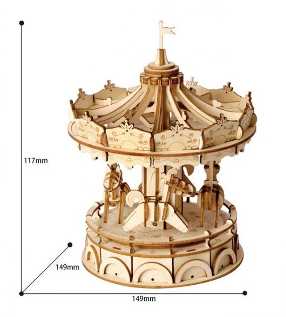 Merry-Go-Round TG404 3D Wooden Puzzle