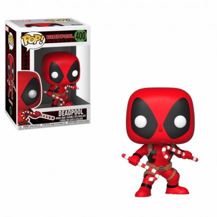 Figurka Deadpool - Holiday Deadpool with Candy Canes (Funko POP!)