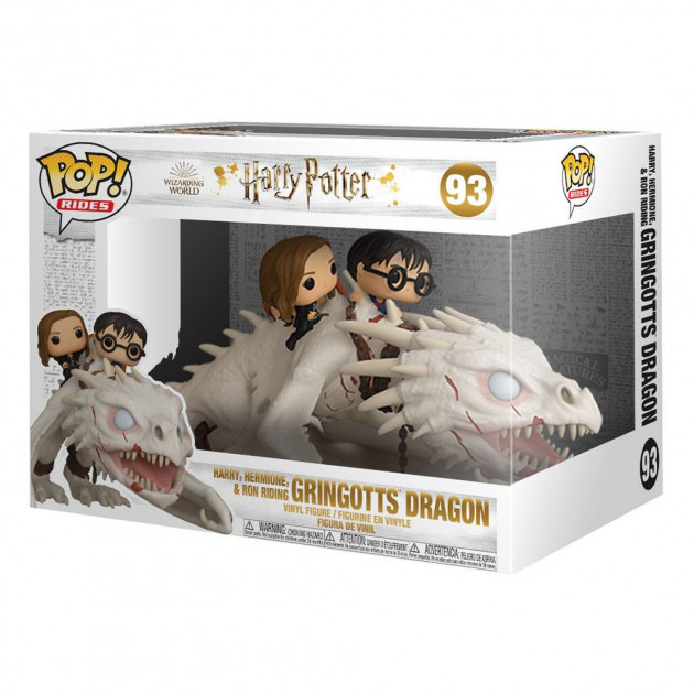 Figurka Harry Potter - Harry, Hermione and Ron Riding Gringotts Dragon (Funko POP! Rides 93)