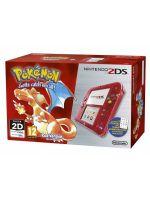 príslušenstvo pre Nintendo 3DS Konzola Nintendo 2DS (Transparent Red) + Pokémon Red
