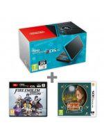 příslušenství pro Nintendo 3DS Konzole New Nintendo 2DS XL Black & Turquoise + FE: Warriors + Laytons MJ