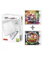 příslušenství pro Nintendo 3DS Konzole New Nintendo 3DS XL (bílá) + Mario Sports + Yo-Kai Watch 2