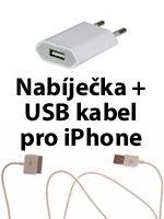 Príslušenstvo k Mobilným telefónom 2v1 nabíjačka + USB kábel pre iPhone 3G/3GS/4/4S