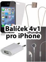 Príslušenstvo k Mobilným telefónom 4v1 príslušenstvo pre iPhone 3G/3GS/4/4S