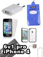 Príslušenstvo k Mobilným telefónom 6v1 príslušenstvo pre iPhone 4/4S