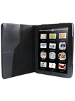 Kožené pouzdro pro iPad s texturou (černé)