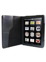 Kožené puzdro pre iPad s texturou (čierne) (MOBIL)