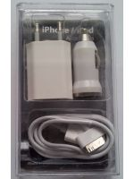Příslušenství k mobilnímu telefonu Nabíječka pro iPhone 3G a iPhone 3GS (3v1)