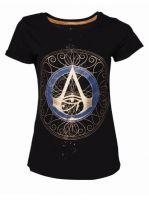 oblečení pro hráče Tričko Assassins Creed: Origins - Gold Spaller Logo (dámské, vel. M)