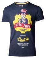 Herné tričko Tričko Fallout 76 - Vault 76 Poster (šedomodré, veľkosť M)
