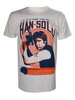 oblečení pro hráče Tričko Star Wars - Han Solo Vintage Rock Poster (velikost M)