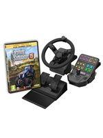 Hra pro PC Farming Simulator 2015 Zlatá edice + Speciální volant (poškozená krabička)