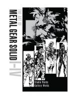 Kniha The Art of Metal Gear Solid I-IV
