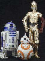 Hračka Figurka Star Wars - R2-D2 + C-3PO + BB-8 ArtFX