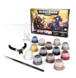 Stolní hra Barvící sada Citadel Essentials Warhammer 40000 (13 barev, štětec, lepidlo a kleště)