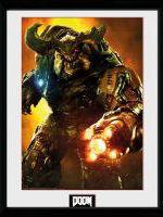 Zarámovaný plagát Doom - Cyber Demon (HRY)