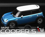 iWaver Mini Cooper S s pruhmi (modré)