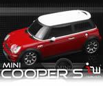iWaver Mini Cooper S s pruhmi (červené)