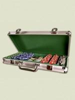 Stolová hra Poker set v luxusnom alumíniovom kufríku - 300 žetónov
