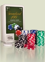Stolová hra Poker set - 100 žetónov (11,5g)