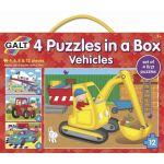 4 Puzzle v krabici - dopravné prostriedky
