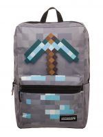 Batoh Minecraft - Diamond Pickaxe (šedý) (HRY)
