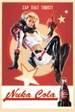 Fallout 4: Nuka Cola Pin-Up plechová ceduľa