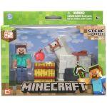 Figúrka Minecraft Overworld -  Steve s koňom