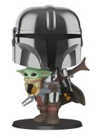Hračka Figurka Star Wars - Mandalorian with The Child (Funko Super Sized POP! Star Wars)
