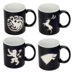 Hračka Hrnek Game of Thrones - Emblems (sada 4 hrnků)