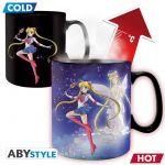 Hračka Hrnek Sailor Moon - Sailor & Chibi (měnící se)