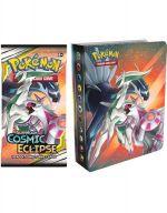 Kartová hra Pokémon TCG: Cosmic Eclipse - Mini Album + booster (10 karet) (STHRY)