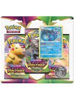 Kartová hra Pokémon TCG: Sword and Shield Vivid Voltage - 3-Pack Blister Booster (Vaporeon) (STHRY)