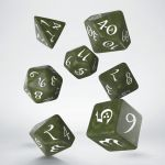 Hračka Kostky Classic RPG - olivovo-bílé