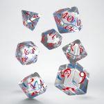 Hračka Kostky Classic RPG - průhledné modro-červené