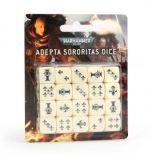 Hračka Kostky Warhammer Adepta Sororitas (20 ks), šestistěnné - bílé